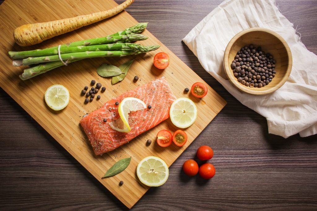 Repas à base de poisson