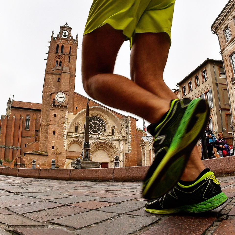 Coureur de marathon de semi-