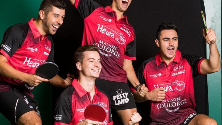 joueurs du caen TTC, participants à la rencontre sportive caennaise