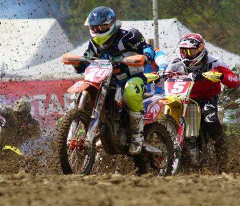Motocross, une course de moto
