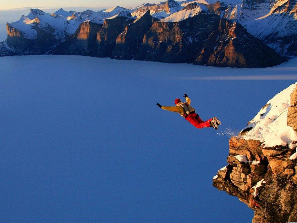 Base jump, un sport en B