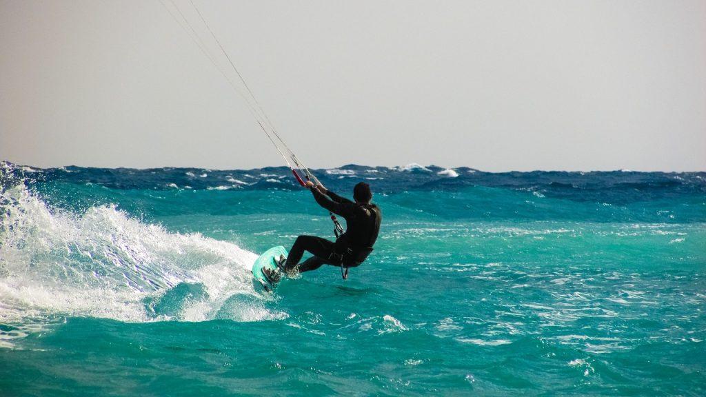 kitesurf, sport en K