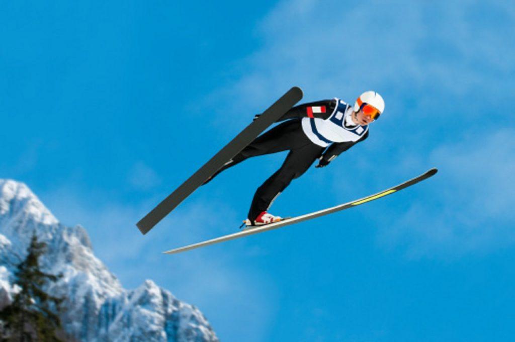 superbe saut à ski