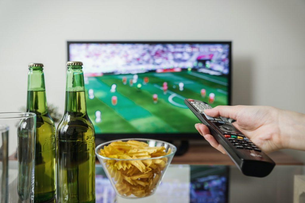 Soirée foot à la télé