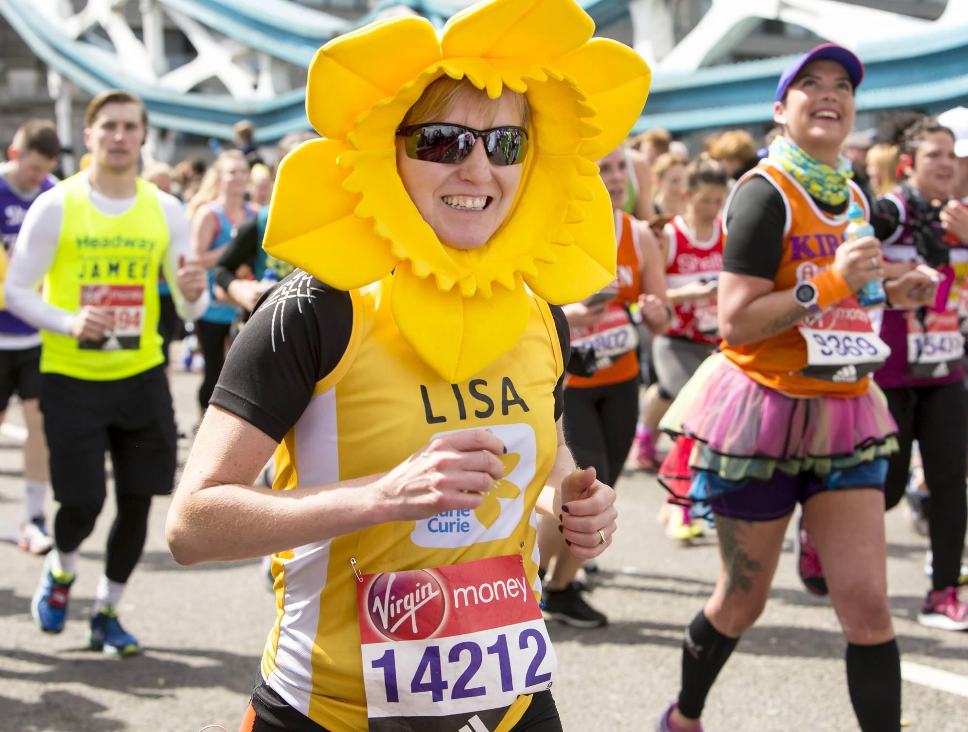 marathon sponsoring drapeau publicitaire